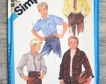 Pattern Simplicity 6563 sewing pouch - shirts 10 years