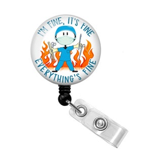 Nurse Badge Holder Nursing Badge Scrublife Badge Holder Name Badge Holder Surgery Nurse Badge Scrub Life Retractable Badge Reel