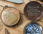 Engraved Compass, Gift for US Air Force, US Air Force Wings, Gift for Pilot, Army Pilot, Flyer, Army Aviation Wings, Boyfriend Compass Gift