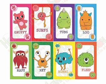 PRINTABLE CARD GAME! Pass & Match!