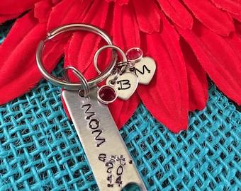 Personalized Mom Keychain