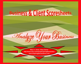 Analyze Your Business with Scoresheets and Scorecards! Mark milestones strides your survival points,  victories, & strengths as a person.