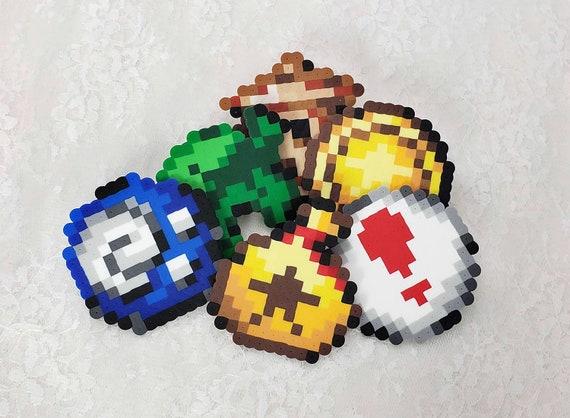 Perler Bead Animal Crossing Pixel Sprite Items Leaf Etsy