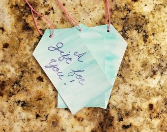 Aqua gift tags