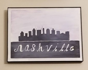City Skyline in Watercolor