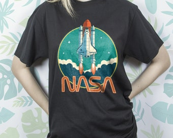 bf8e03cde3ab NASA shirt Vintage for Women Girl Men shirt t shirt tshirt Retro Nerd Space  Graphic tee Astronomy Astronaut Rocket Unisex Gift Idea for him