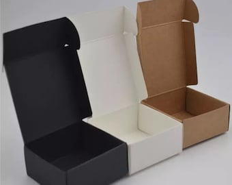 Pack of 500 Handmade Product Packaging Boxes Wholesale | Jewellery Soap Candle Cosmetics Packing Box | White Black Kraft Paper Box Gift Box