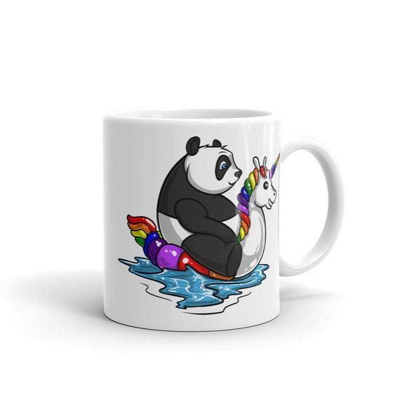 Panda Einhorn Lustig I/'M A Pandicorn Einhorn Retro Emaille Becher Tasse