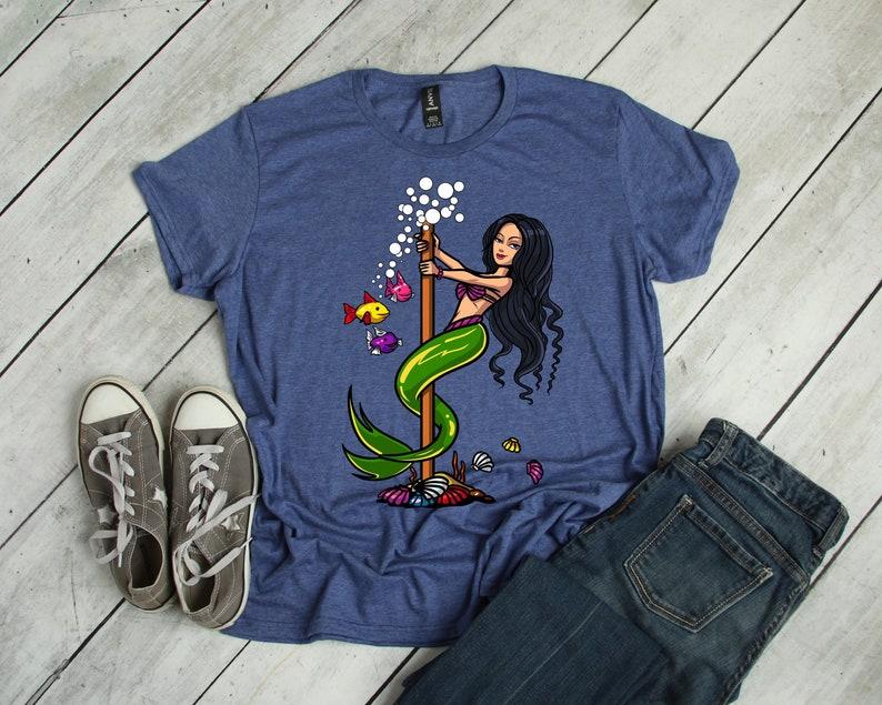 79c1170f9623 Mermaid Shirt Pole Dancing Shirt Mermaid Clothing Womens | Etsy