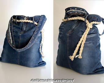 Sea bag in denim