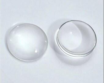 Ausverkauf! Masse 50 Stück: 20mm klar Glas-Cabochons * klaren runden Transparent 20mm gewölbt Objektiv liefert DIY