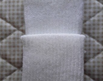 EDGES knit white PoignetsS or bottom of pants-Pack of 2 sides