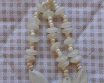 Sale the unte POMPOM TASSEL 3 BranchesECRU - Marbled - resin beads