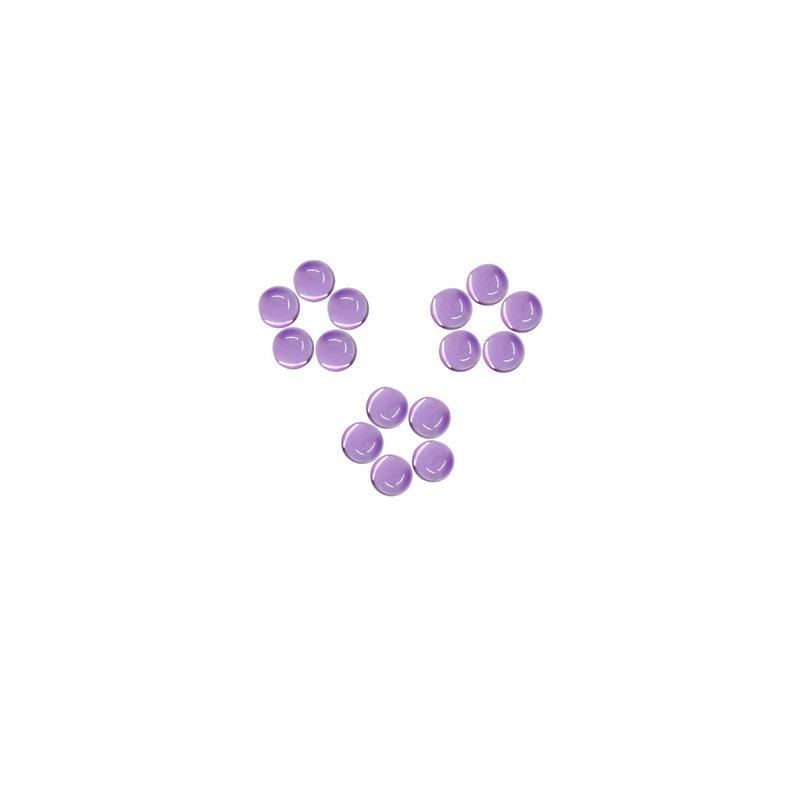 100/% Natural Amethyst Purple color Loose Gemstones Natural Gemstones For Sale Amethyst Round Shape Loose Plain Cabochon 4x4 mm Size
