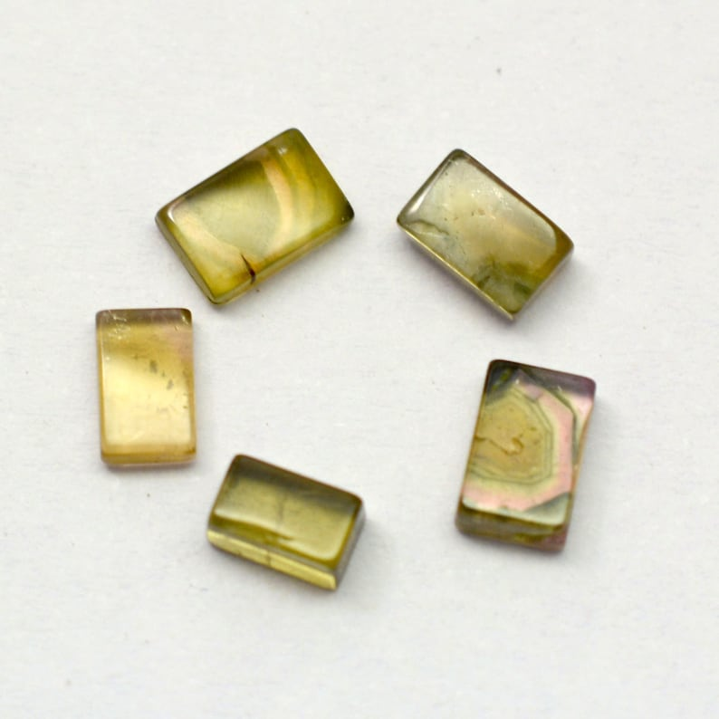 Loose Gemstone Cabochon for Jewelry P-2192 2.70 Cts 5 Pcs Lot Natural Tourmaline Size 3 mm To 6 mm Approx