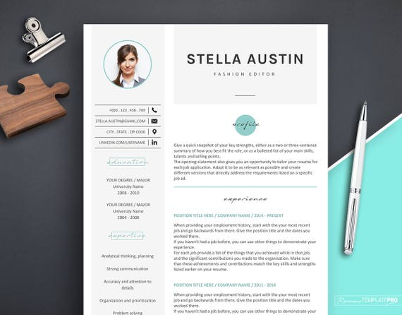 Resume With Photo Template Professional Resume Template For Fashion Resume Template Word Resume Template Resume Design With Icons Cv