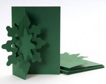 Christmas cards 3D - set of 4 cards + envelopes - A6 size 4