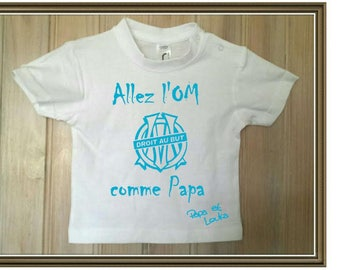 """personalized kids t-shirt """"go OM to the point like Daddy"""""""