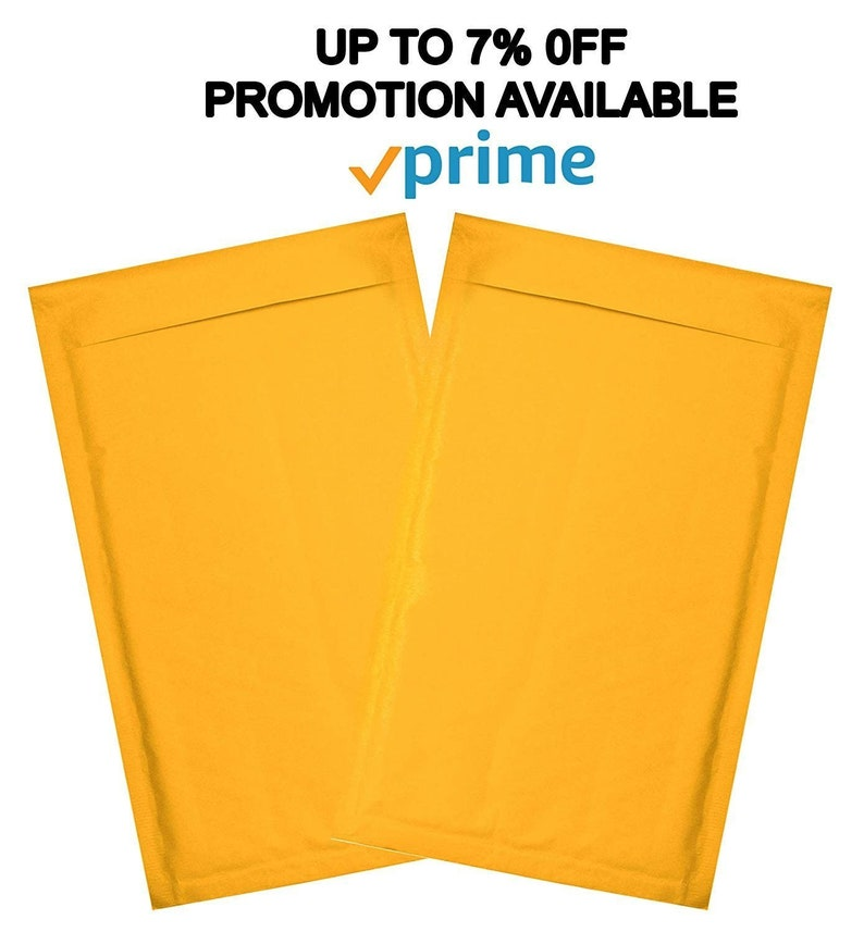 Shipping bags 25 Pack Kraft padded envelopes 7.25 x 11 Kraft Bubble Mailers 7 14 x 11 Peel and Seal Yellow shipping mailers