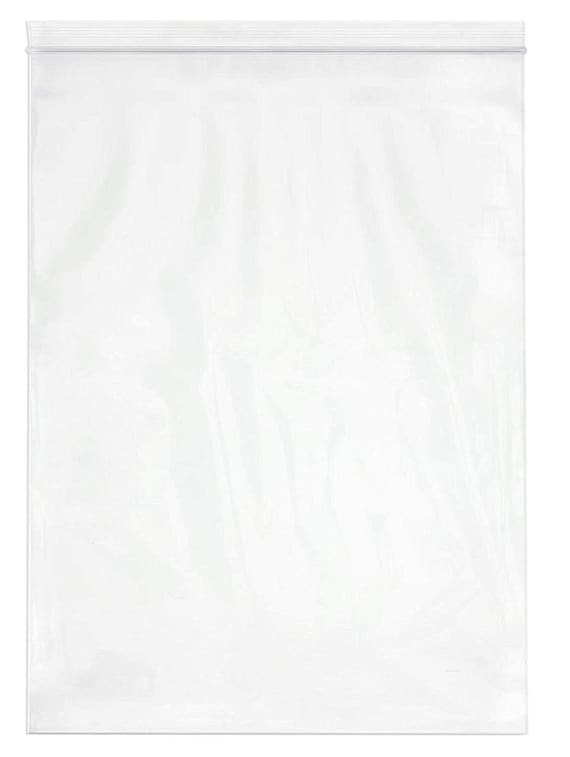 Clear RetailSource P100804DR1000 Double Track Reclosable Poly Bags Pack of 1000 10 x 8 4 mil 10 x 8
