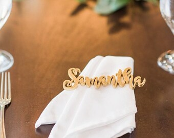"""Place Cards, Wedding Wooden Place Names, Laser Cut Names,Wedding Place Setting-Please Enter your phone number in the """"NOTE to the seller"""""""