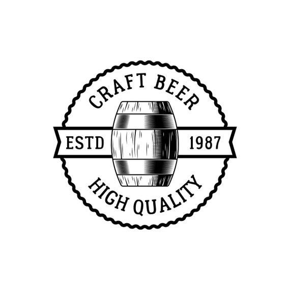 Beer Logo #67 Barrel Pub Bar Tavern Brew Brewery Barley Brewing Alcohol Drink Ribbon Label .SVG .EPS .PNG Vector Cricut Cut Cutting File