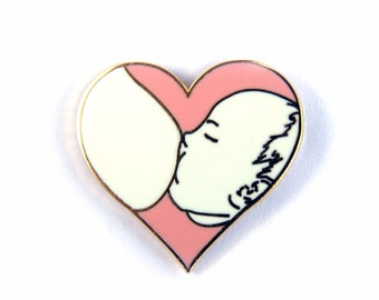 d17121720e743 Breastfeeding Love Enamel Pin