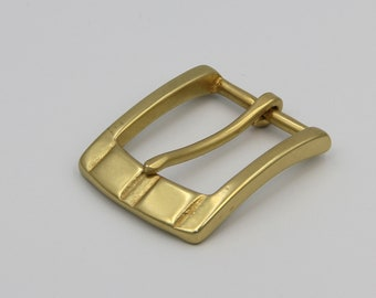 40mm SOLID BRASS D BUCKLE Heavy Single Prong Leather Belt Hippie Japan Quality