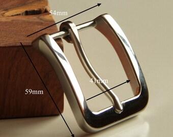 Boucle de ceintures à la main en acier inoxydable verre finition boucle de  ceinture argent brillant boucles prix de gros ST107 fa4bff7f038