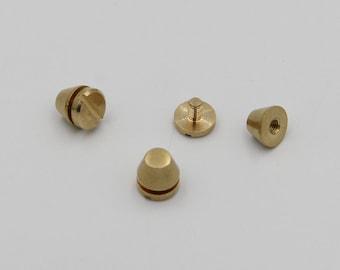 Brass Solid Rivet Star Design Pkg Of 10 Great For Crafting Needs
