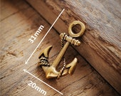 Brass Anchor Necklace Pendants Keychain Jewelry Makeing Charm