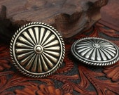 Boho Style Conchos Leather Craft Decoration Concho Rivets Scrw Back