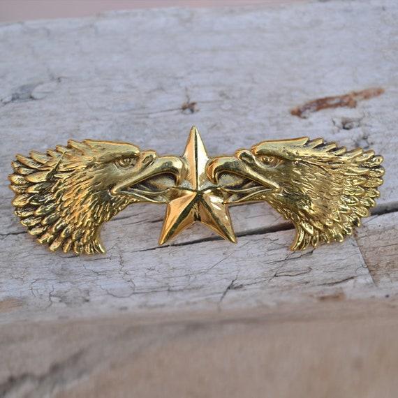 Solid brass eagle bird leather craft rivet screw back Conchos belt bag clothes