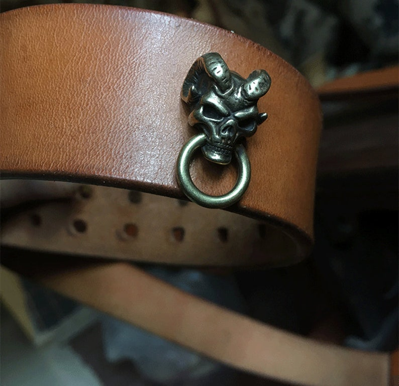 Vintage Lucifer Concho With Ring Copper