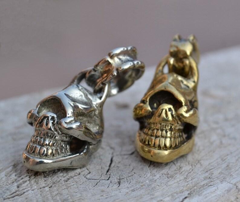 One-Eye Skull Jewelry Pendants DIY Necklace Fitting