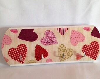 Dishcloth, decorative wooden heart Keyring