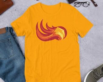 D20 Fireball Dice Premium Short-Sleeve Unisex T-Shirt