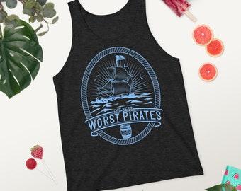 The Best Worst Pirates Premium Heather Unisex Tank Top