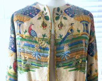 Stunning silk brocade jacket from 1930s