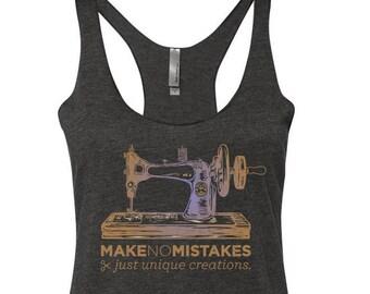 sewing tank-top, craft tank-top, sewing machine tank-top, sewer tank-top, crafting tank-top, crafter tank-top, sew tanktop, sewer tank