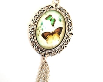 Pendant cabochon 18 * 25mm Butterfly cabochon necklace