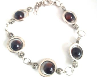 "Bracelet adjustable link handmade tone ""Coke"""