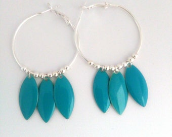 Handmade earrings with sequin