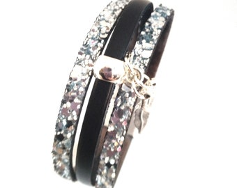 Woman leather bracelet / European leather