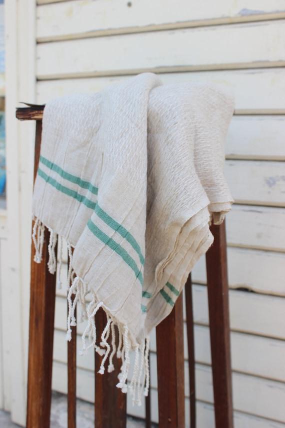 /%100 Organic Cotton Turkish Towel BeachTowel Light and Soft