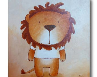 Sam the lion painting