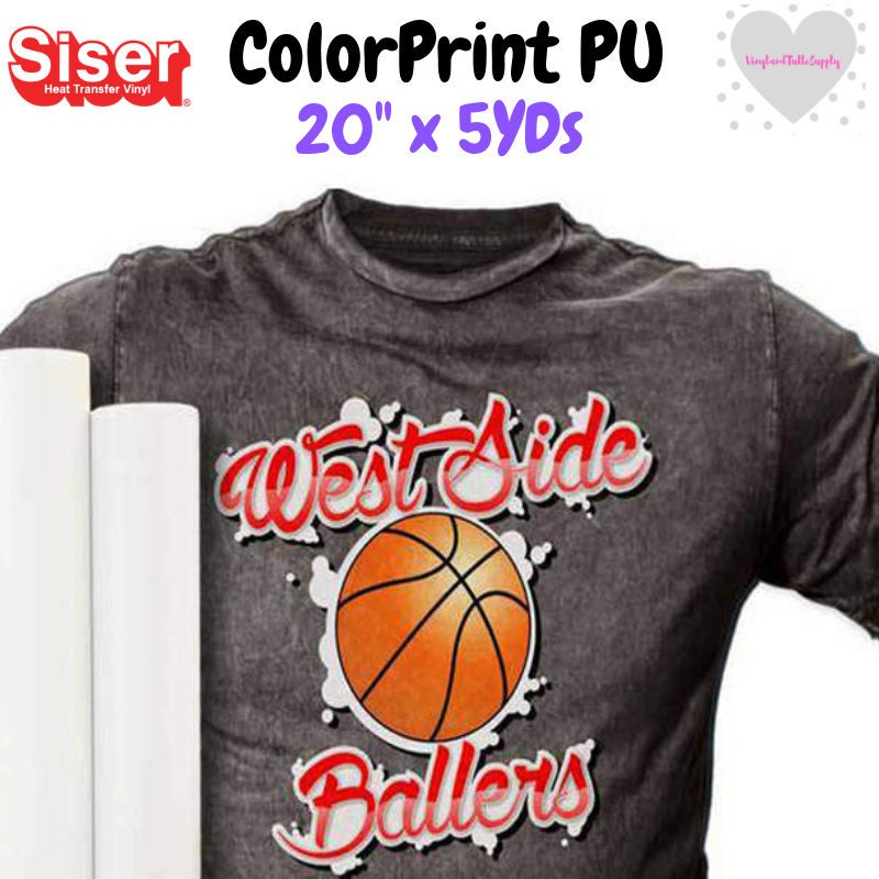 graphic about Siser Colorprint Easy Printable Heat Transfer Vinyl known as 20 Siser ColorPrint PU / Printable Vinyl / Reduce and Print