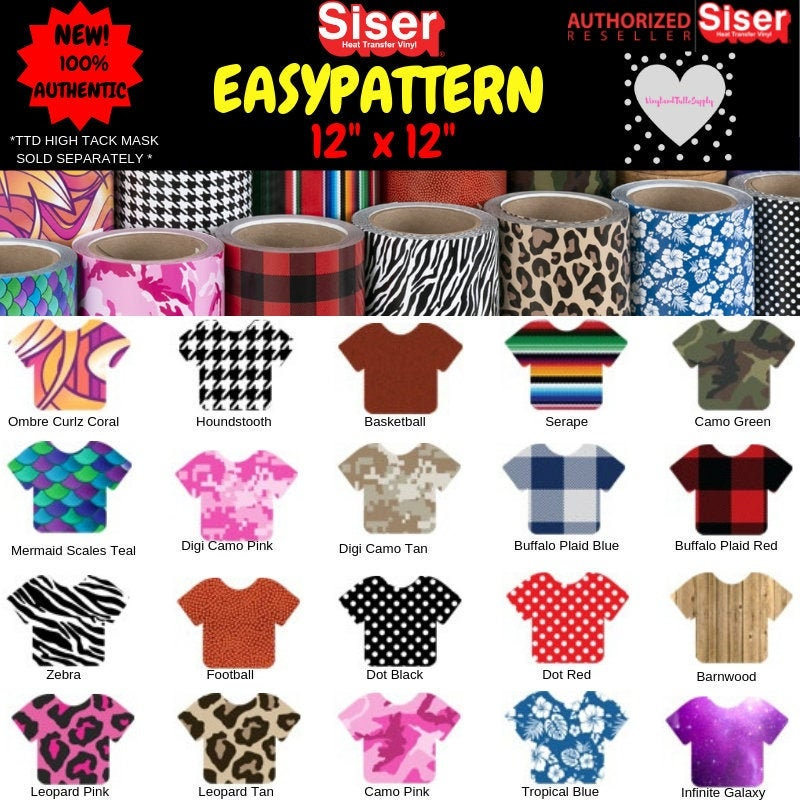 9bd51d0ad1ded 12 X 12 / Siser EasyPattern HTV / 1 foot / Heat Transfer Vinyl Pattern /  Easy Pattern Series 2 / Mermaid Scales / Galaxy