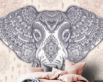 Indian Elephant Peel And Stick Wallpaper Etsy