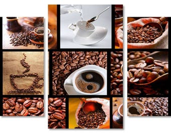 Coffee on Canvas,Coffee  Art style,Beautiful Coffee on Canvas Wall Art, Cup of Coffee on Canvas, Coffee Beans on Canvas